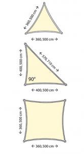 shade sail shapes